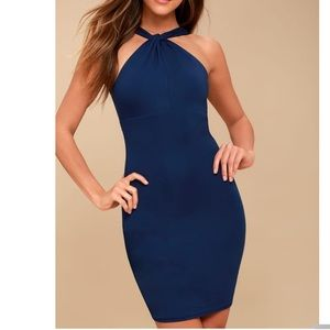 Lulu's Key Largo Bodycon Dress- Navy Blue XL
